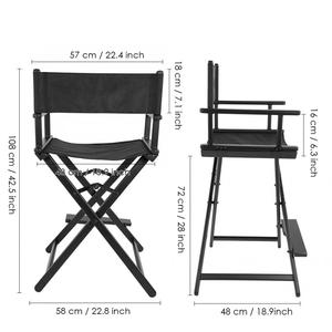 Image 4 - Professional Folding Aluminum Alloy Makeup Artist Directors Face Painters Chair for Home Salon Folding Makeup Chair