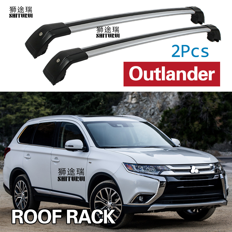 2 Pcs Roof Bars for Mitsubishi Outlander /PHEV SUV 2012-2020 Aluminum Alloy Side Bars Cross Rails Roof Rack Luggage Carrier title=