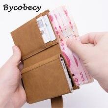 Bycobecy для кредитных карт чехол портмоне мужчин и женщин металла