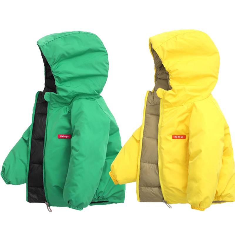 Boys Down Coats 2019 Autumn Winter Jacket For Girls Jacket Kids Candy Color Keep Warm Outerwear Coat Children Clothes