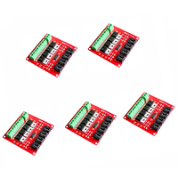 5piece 4 Channel Switch Module MOSFET 4 Route Button IRF540 V2.0 For Arduino