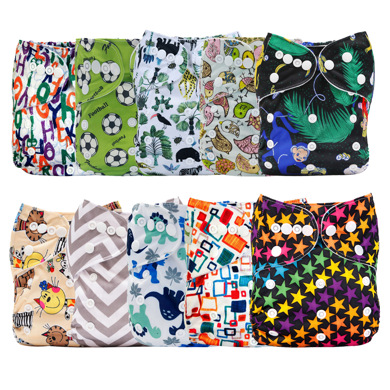 [Mumsbest] 10PCS/Pack Wholesale Price Baby  Waterproof Cloth Diaper Pocket  Washable & Breathable Nappy Cover Sent Random Color