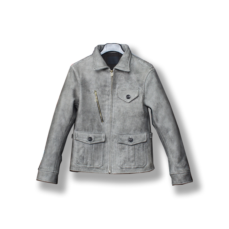 Read Description! Asian Small Size Men's Goat Leather Slim Fitting Outwear Mens Goat Leather Stylish Jacket