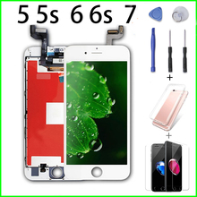 Pantalla for iPhone 5 5s 6 6s 7 LCD Replacement Assembly Digitizer Display  No Dead Pixel with Repair Tools+