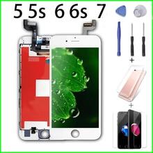 Riyla pour iPhone 5 5s 6 6s 7 LCD remplacement assemblée numériseur affichage pour iPhone 5 7 LCD pas de Pixel mort avec des outils de réparation +