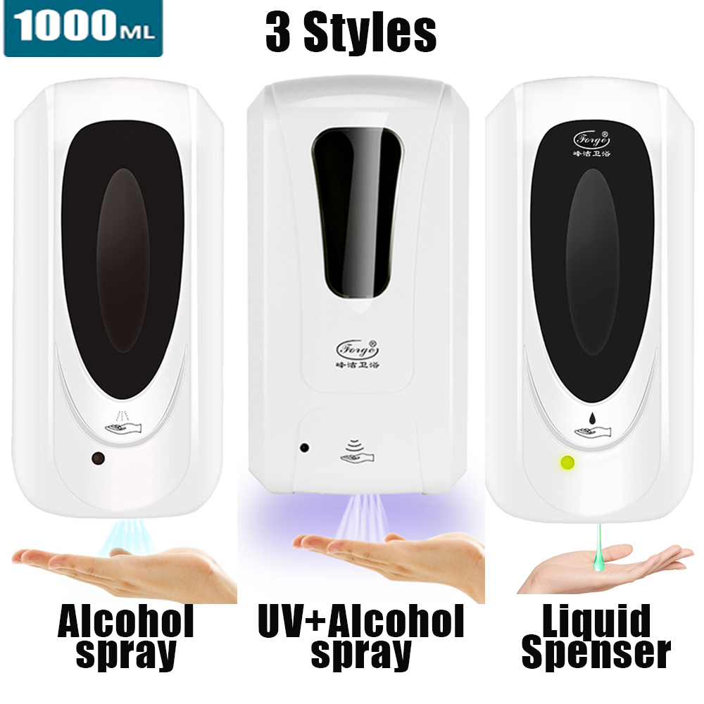 Hand Sanitizer Touchless Dispenser 1000 mL Sensor Touch Free Hand Sanitizer Dispenser Alcohol Mist Spray Machine Hand Sanitizer Touchless Dispenser 1000 mL Sensor Touch Free Hand Sanitizer Dispenser Alcohol Mist Spray Machine