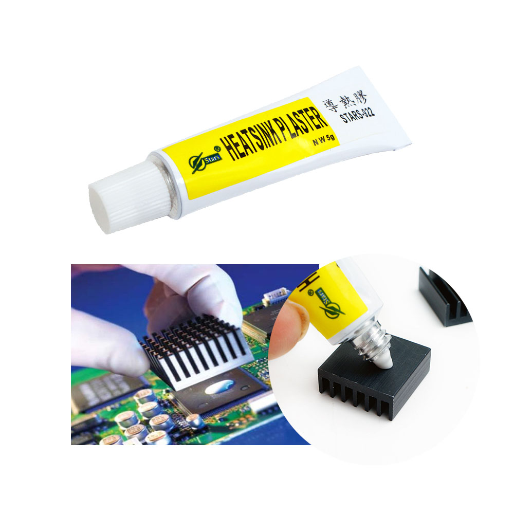 5g Thermal Grease Paste Conductive Heatsink Plaster Adhesive Glue For Chip VGA RAM LED IC Cooler Radiator Cooling STARS-922