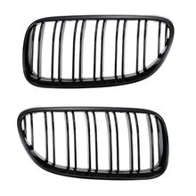 2PCS Front Bumper Center Kidney Grille Grill for B-MW 3 Series 2 Door E92 E93 316i 320d 320i 323i 325d 325i 330i 10-14