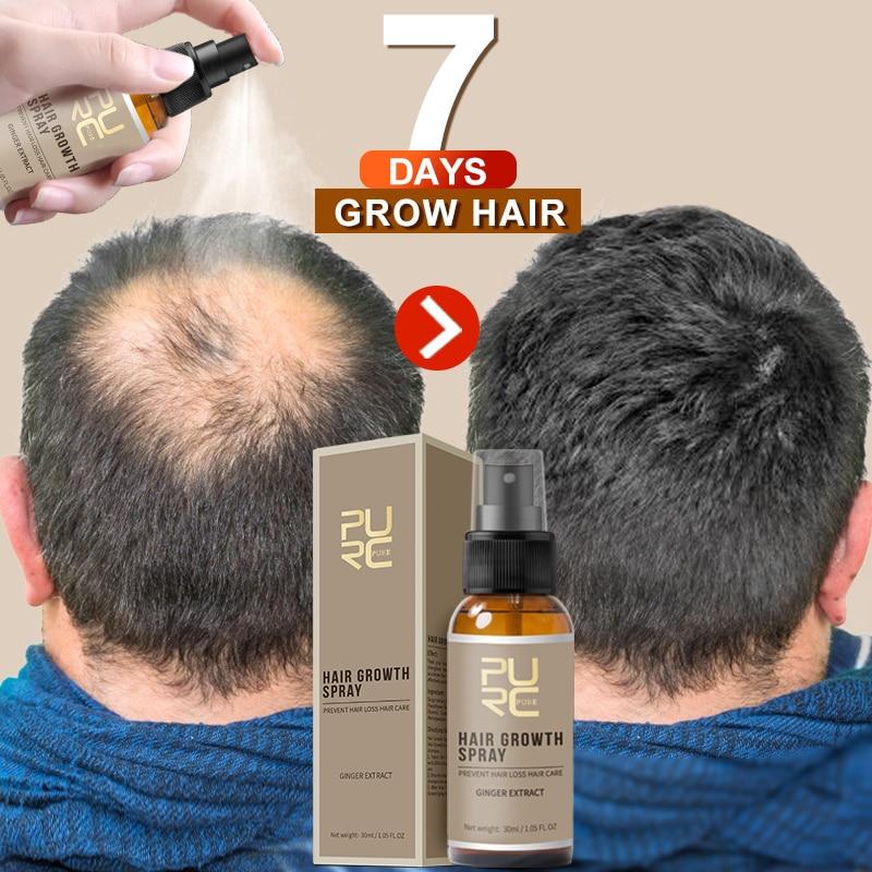 PURC, nuevo, Spray para el crecimiento del cabello, crecimiento rápido, pérdida de cabello, prevención de pérdida de cabello, 30ml|Productos anticaída del cabello|   - AliExpress