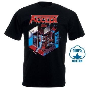 Accept Metal Heart Udo Heavy Metal Band Runninger Wild Rage New Black T Shirt