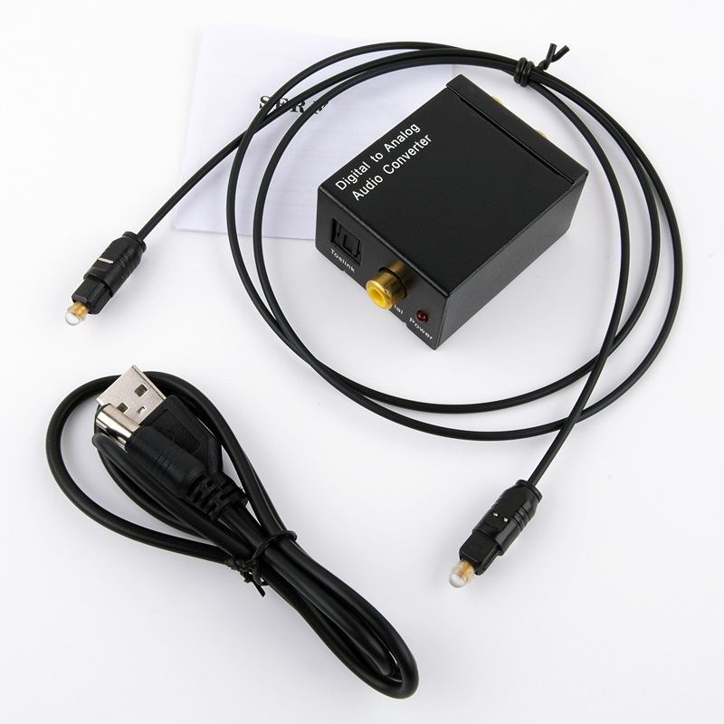 Coaxial Digital Signal Optical Fiber To Analog Audio Converter PR Sale