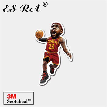 Stickers on Car Boys Laptop Pegatinas Luggage Skateboard Decorate Basketball Players Stickers Sport Outdoor Decals James 3M image