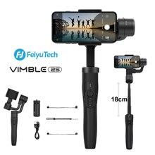 Feiyu Vimble 2S 3 ציר Smartphone Gimbal כף יד מייצב 180mm מוט להארכה חצובה עבור iPhone 11 X xs 8, סמסונג S9S8