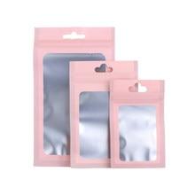 Bolsas de plástico recarregáveis para zíper, saco pequeno impermeável em 3 tamanhos de 20, unidades/pacote saco com zíper de alumínio