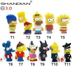 Image 1 - Shandian usb 3.0 バートシンプソンマウスウルフ 4 ギガバイト 8 ギガバイト 32 ギガバイトメモリスティックuディスクペンドライブホーマーペンドライブusbフラッシュドライブ