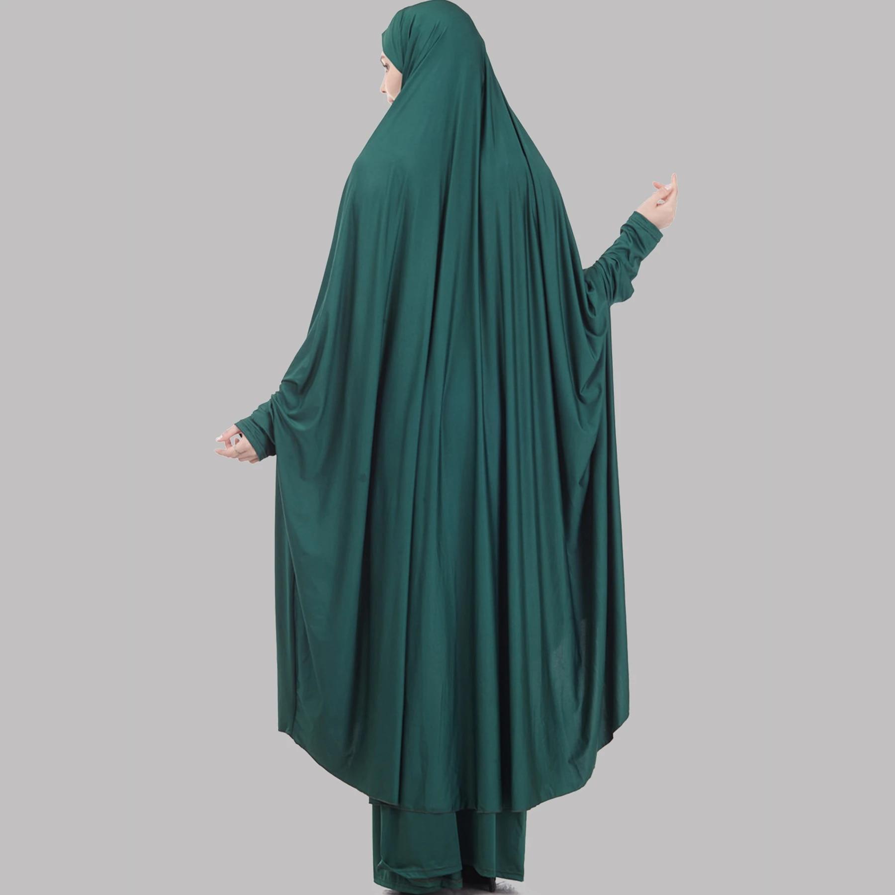 ABAYA-Kopftuch-Hijab Gebetskleidung 2-tlg Set aus Khimar /& Rock langer Ärmel