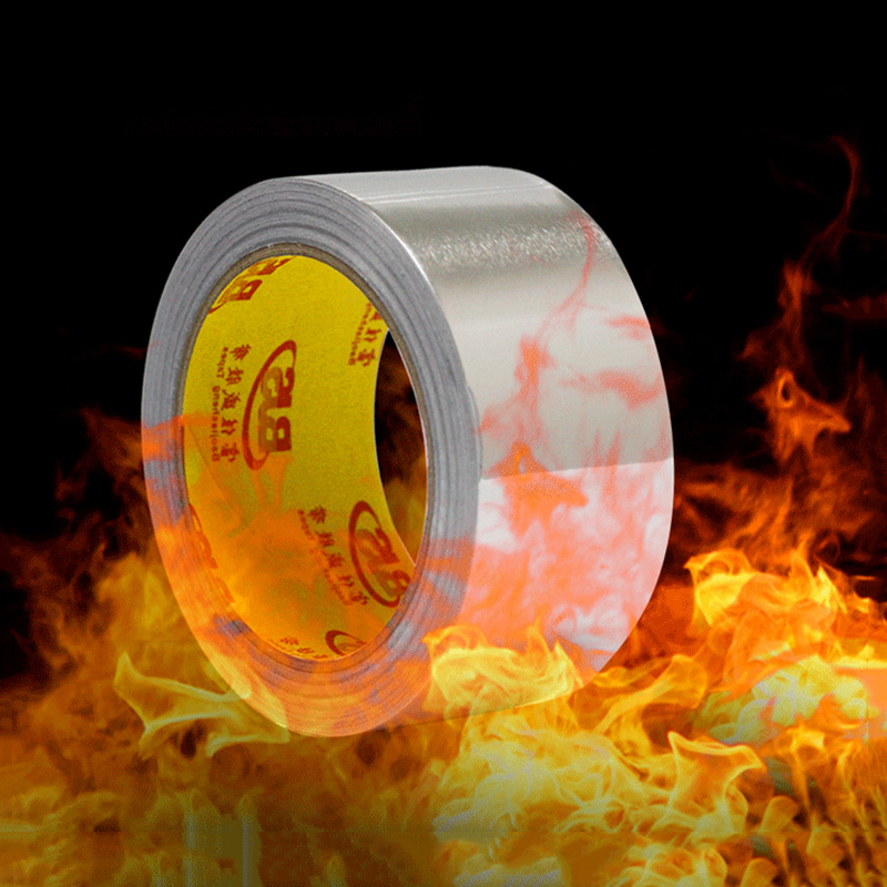 20CM*10/20/30MM High Temperature Resistant Heat Refrigeration Sealing Fireproof Waterproof Aluminum Foil Tape EMI Shielding Tape