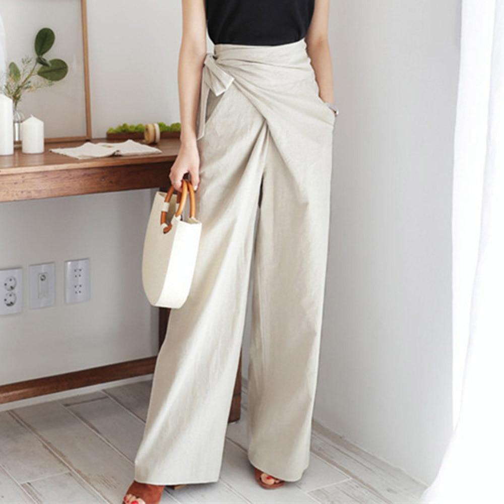 Fall 2020 Vintage Office Ladies Korean Pants Women Loose Wide Legs Female Fashion Trousers Plain Pure Minimalist Elegant Pants
