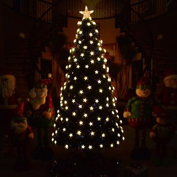 Oświetlenie LED boże narodzenie drzewo zestaw dekoracje na boże narodzenie 1 5 metrów optyczne drzewo z włókna drzewo 1 8 metrów nowy boże narodzenie drzewo dla domu tanie i dobre opinie supiexeler