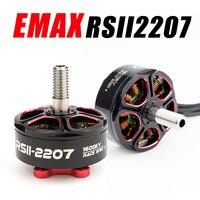4 pces emax rsii 2207 1600kv 2300kv 2550kv 4S 6s motor sem escova para rc fpv corrida freestyle longo alcance 5 polegadas drones x220s nazgul5