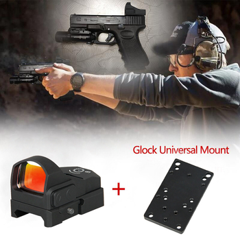 Hot Sale Hunting Holographic Red Dot optics  rifle scope Sight Reflex Airsoft resistance500G 2-0117 - discount item  19% OFF Hunting