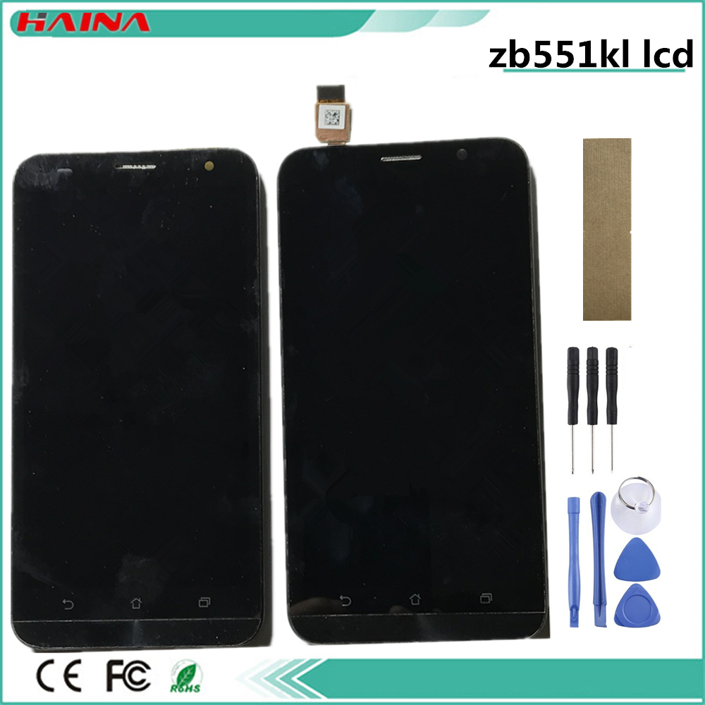 Frame + lcd For <font><b>ASUS</b></font> Zenfone Go ZB551KL Display Touch Screen Assembly with Frame For <font><b>ASUS</b></font> ZB551KL LCD Adr On Go TV <font><b>X013D</b></font> image