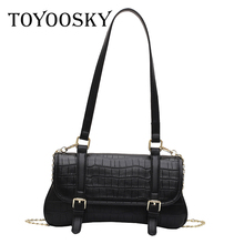 TOYOOSKY Women Fashion Handbag Vintage Stone Pattern Shoulder Classic Texture Creative Design Chic Crossbody Bag Solid PU bags