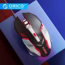 Orico Professionele Stille Macro Game Mouse Led Wired Gaming Mouse Voor Pc Computer Laptop Muizen Verstelbare 3200 Dpi Muis Gamer(China)