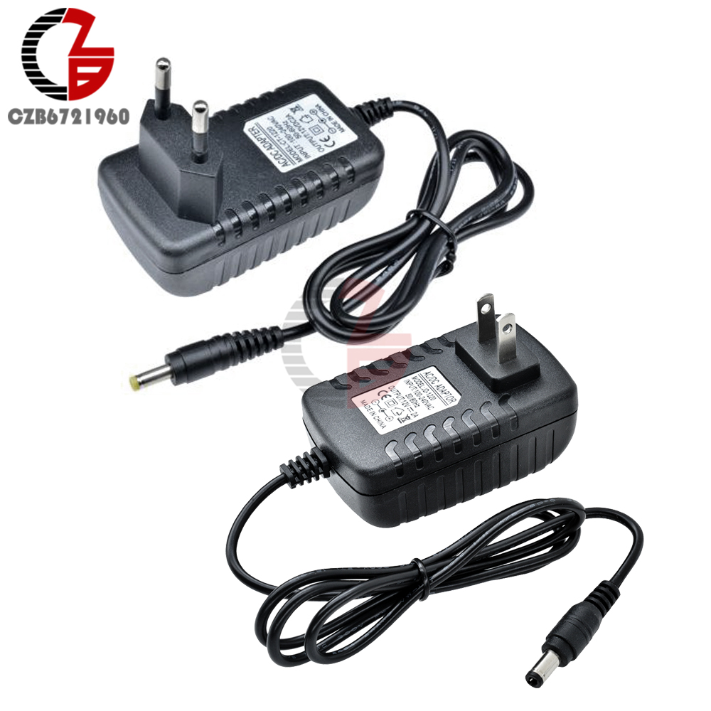 US EU Power <font><b>Adapter</b></font> AC 100V-240V to DC <font><b>12V</b></font> 9V 5V 2A 1A Power Supply Transformer Voltage Converter 110V 220V Plug Socket Charger image