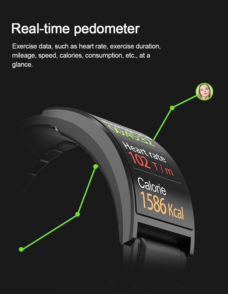 completo ppg pressão arterial precisa monitor freqüência cardíaca relógio curvo