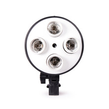 4 in 1 E27 Basis Sockel Licht Lampe Birne Halter Adapter für Foto Video Studio Softbox
