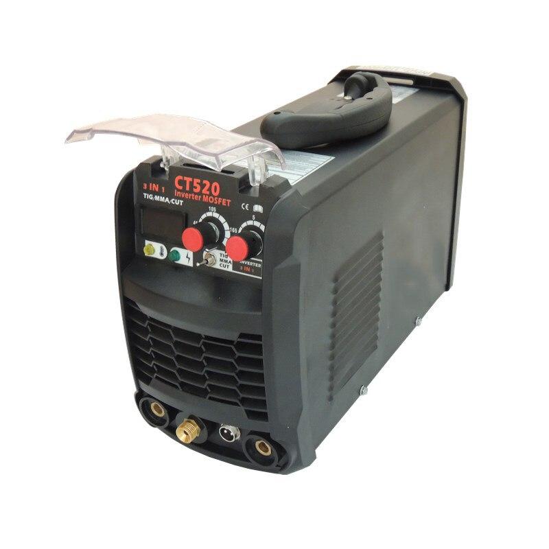 EMPO 3 dans 1 Machine de soudure 110V 220V coupeur portatif de Plasma d'air CT520 inverseur TIG/MMA/coupe Machine multi-usage Kaynak Makinesi