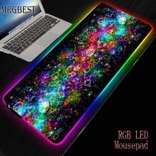 MRGBEST Xxl Color Bubble Game Computer Mouse Pad RGB Large Lockedge Mousepad LED Desk Backlit Mousemat