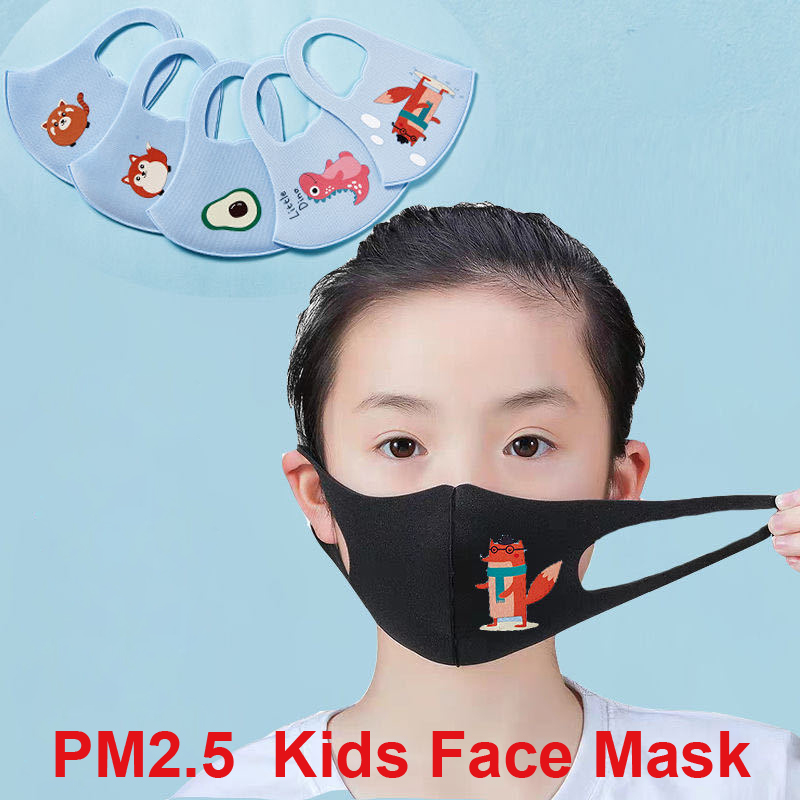 1pcs Kids Mouth Mask Face Mask Protection Anti-Dust PM2.5 Protection Anti-Pollution Face Cover Cartoon Pattern For Baby 4-12Y