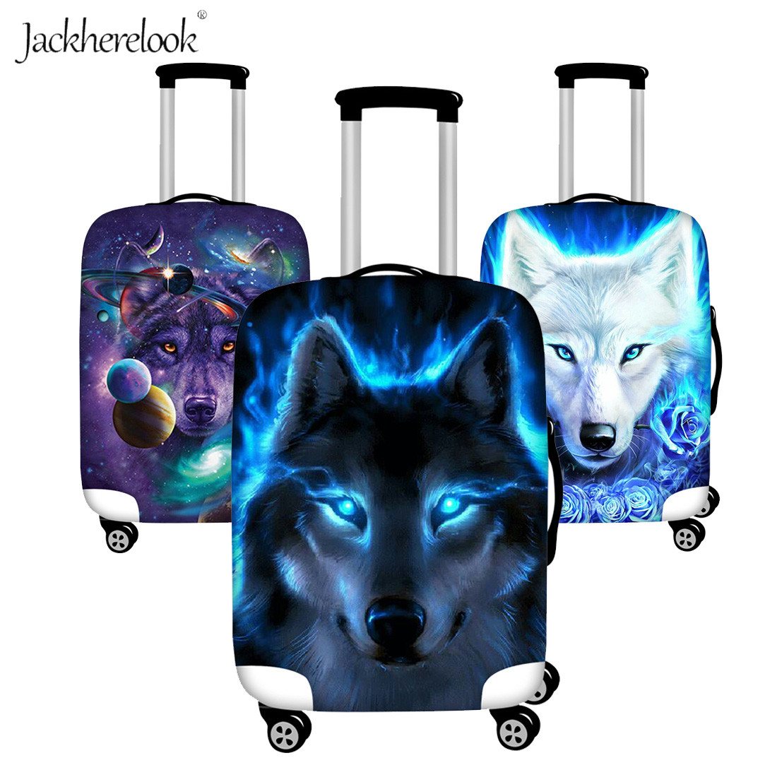 Wolf Travel Tags For Travel Bag Suitcase Accessories 2 Pack Luggage Tags