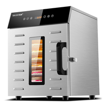 Food Dehydration Dryer Dried Fruit Machine Household and Commercial Smart Touch 8-layer Capacity Visual Door Lighted visual feast contemporary food staging and photography