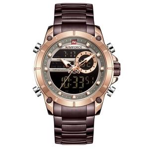 Image 2 - NAVIFORCE relojes de cuarzo para hombre, cronógrafo militar, deportivo, Masculino