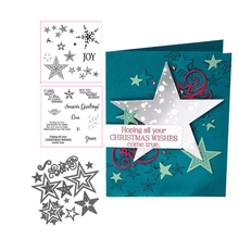 JCarter Rubber Stamps and Metal Cutting Dies for Scrapbooking Christmas Wishes Star Craft Stencil Card Make Album Sheet Decor make 5 wishes 1