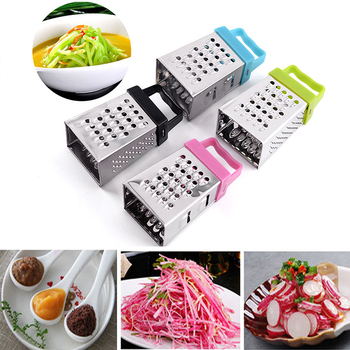 Mini Four-Sided Grater Multifunctional Stainless Steel Slicer Vegetable Fruit Ginger Garlic Peel Planer Cooking Kitchen Cutter image