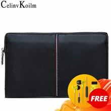 Celinv Koilm יוקרה מותג גברים של תיק ציפורני יום שקיות עבור טלפון באיכות גבוהה נשפך עור ארנק יד תיק גדול קיבולת