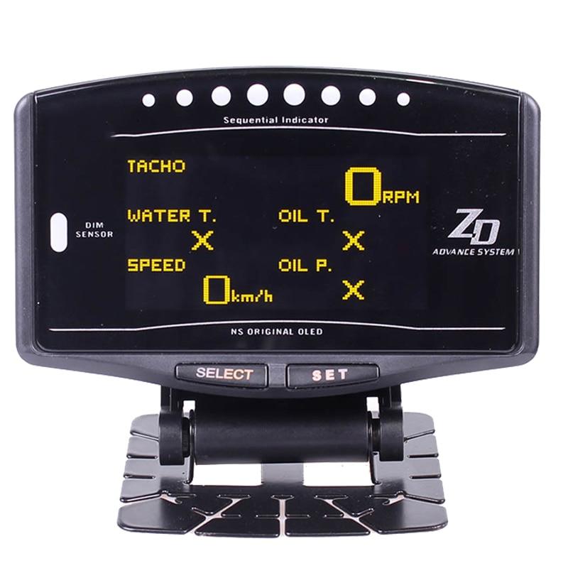 10 en 1 Kit complet sport paquet BF CR EXT TEMP Advance ZD Link mètre numérique Auto jauge numérique tachymètre tr/min pression d'huile