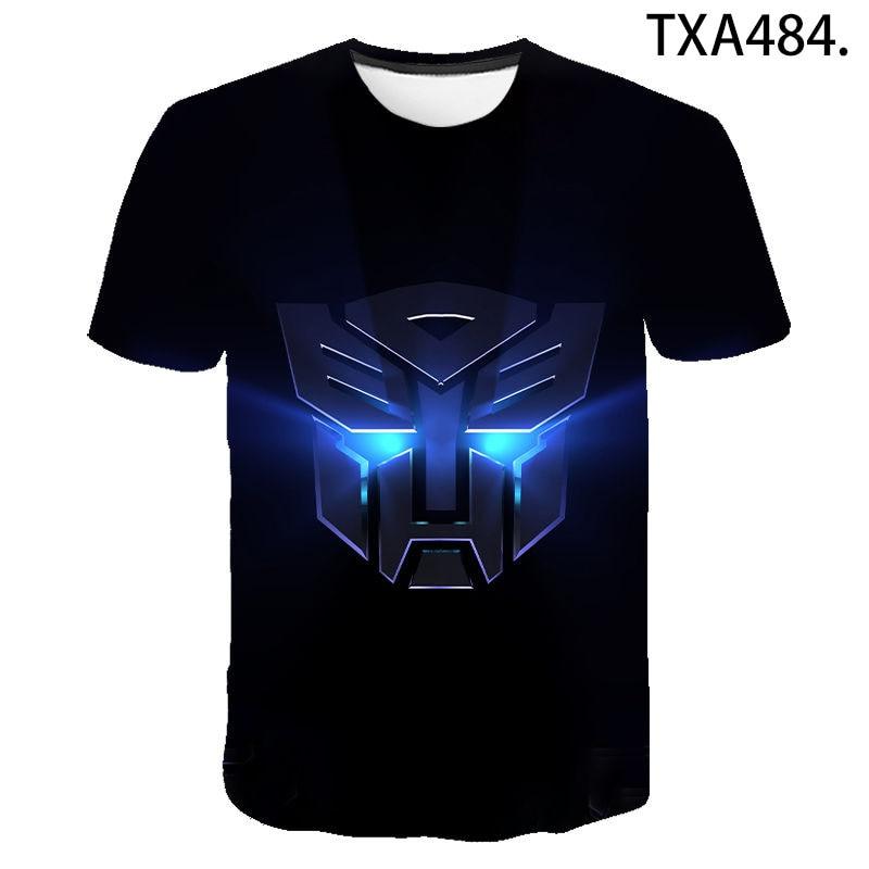 Summer New 3D Print Transformers Optimus Prime T Shirt Men Women Children Streetwear Fashion Casual Boy Girl Kids Tops Tee Shirt