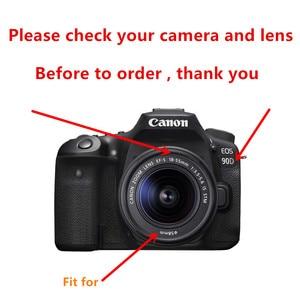Image 2 - 58mm Filter set + Lens Hood + Cap + Cleaning pen for Canon EOS 2000D 4000D 250D Rebel T7 T100 SL3 with 18 55mm lens DSLR Camera