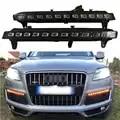 LED Dynamische Blinker Blinker Funktion Auto DRL Wasserdicht 12V LED Tagfahrlicht Nebel Lampe Für Audi q7 2006 2009