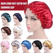 Satin Sleep Cap Women Hair Bonnet Cap Show Hat Cap Elastic Femme Lady Cap Hat Fo