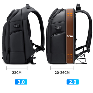 Image 4 - רואו זכר תכליתי תרמיל USB טעינה עסקי נסיעות תרמילי נגד גניבה עמיד למים 15.6 אינץ מחשב נייד בחזרה חבילת המוצ ילה