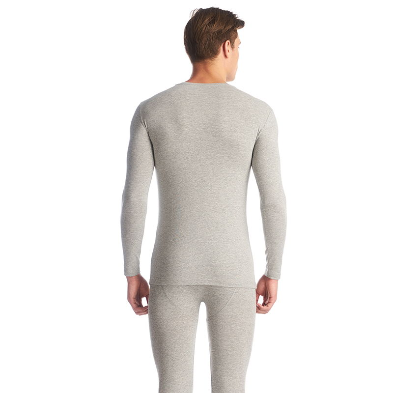 THREEGUN Lycra Cotton Long Johns Men Round Neck Thermal Underwear Breathable Winter Clothes Male Seamless Warm Bottoms Plus Size