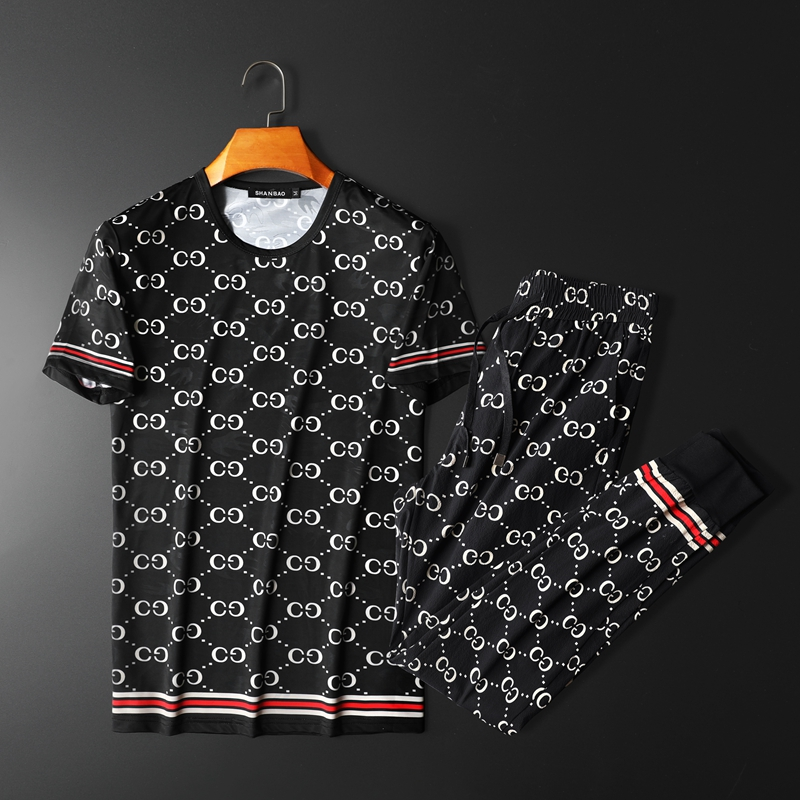 Men's T-shirt Suit Silk Fabric Cool And Breathable Sports Suits For Men And Women 2 Piece Pant Set Men's Sweatpants Haroun Pants