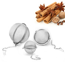 1pcs Kitchen Tools Tea Ball Strainer Stainless Steel Infuser Sphere Locking Spice Mesh Filter Strainers stainless steel tea infuser sphere locking spice tea ball strainer mesh infuser tea filter strainers kitchen tools theezeef