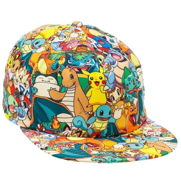 Детская бейсбольная кепка с покемоном Пикачу шляпы для косплея, Детская кепка с героями мультфильмов аниме, Спортивная уличная солнцезащит...